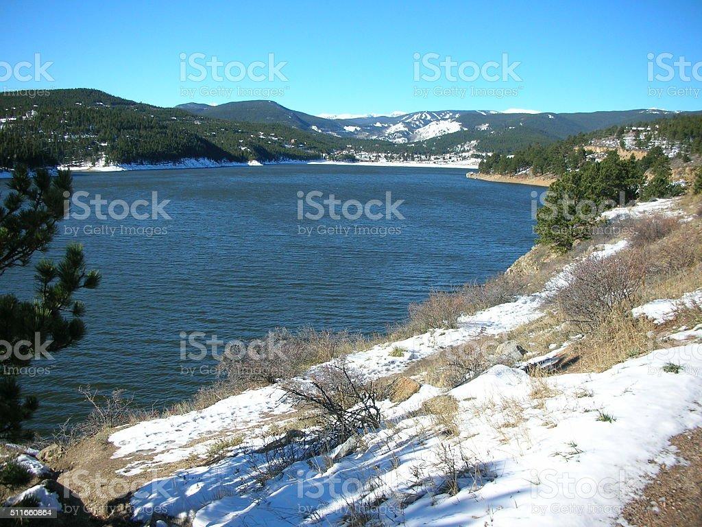 Barker Reservoir, Colorado, USA, west of Boulder CO stock photo