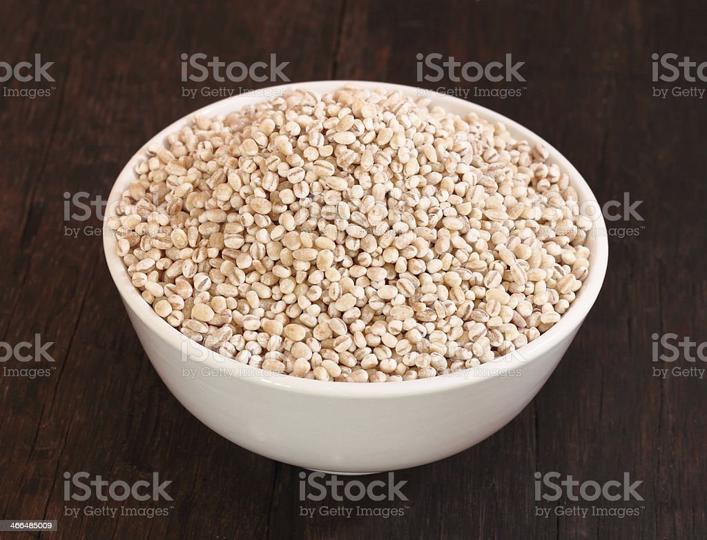 Barley grains stock photo