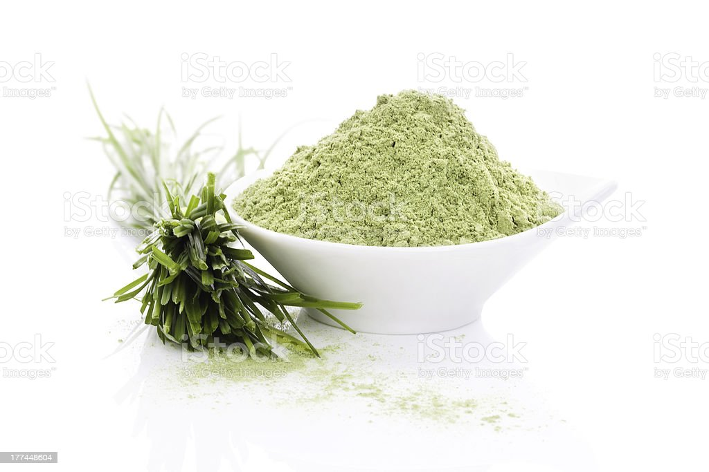 Barley grass. Superfood. stock photo