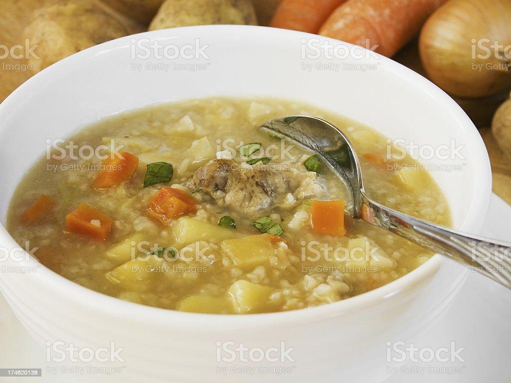 Barley soup royalty-free stock photo