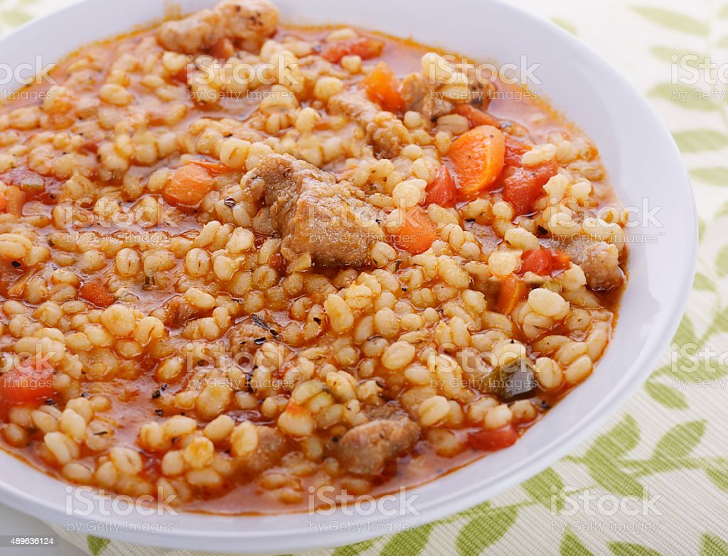 Barley Soup stock photo