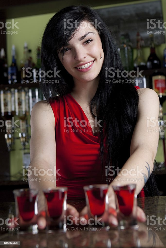 Barmaid royalty-free stock photo