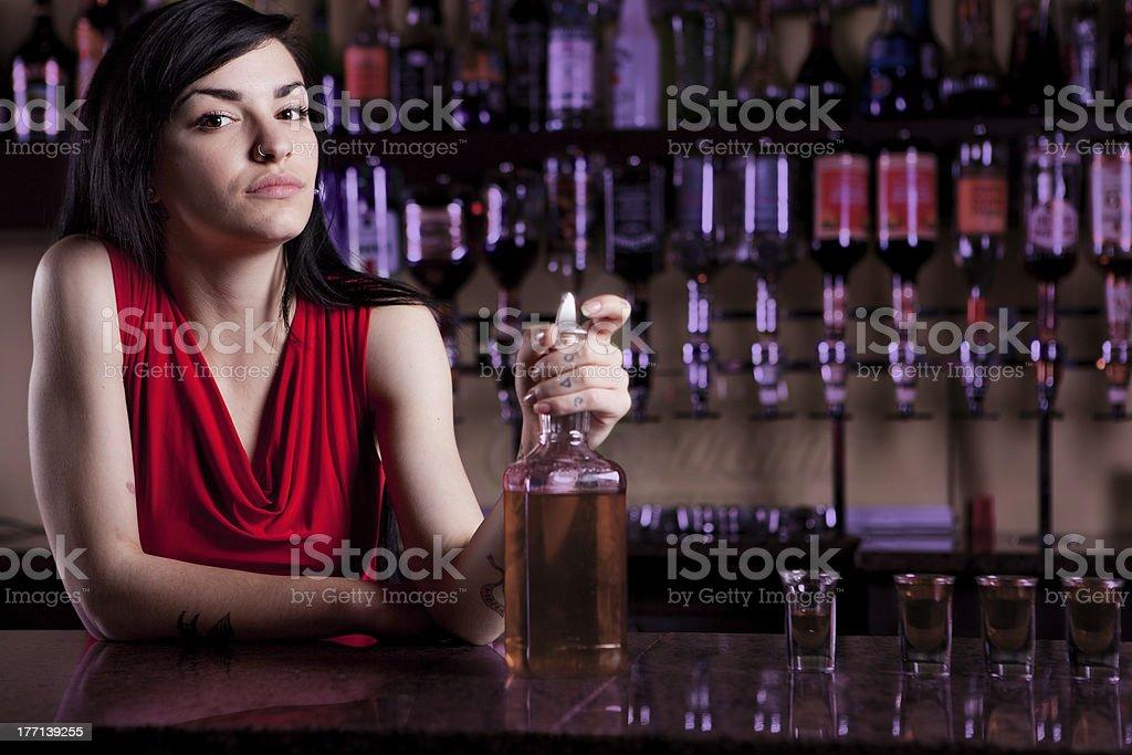 Barmaid royalty-free stock photo