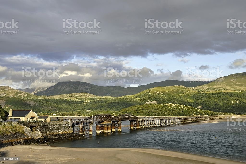 Barmouth Bridge royalty-free stock photo