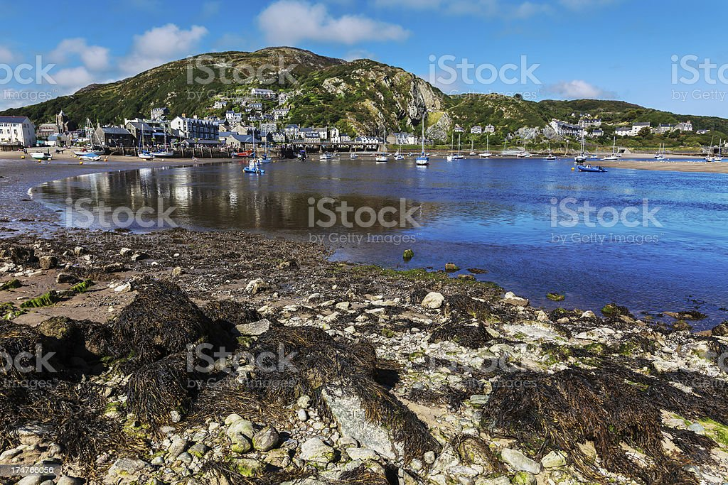 Barmouth Harbour and town, Wales stock photo