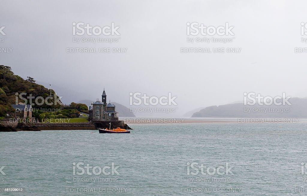 Barmouth in the Rain stock photo