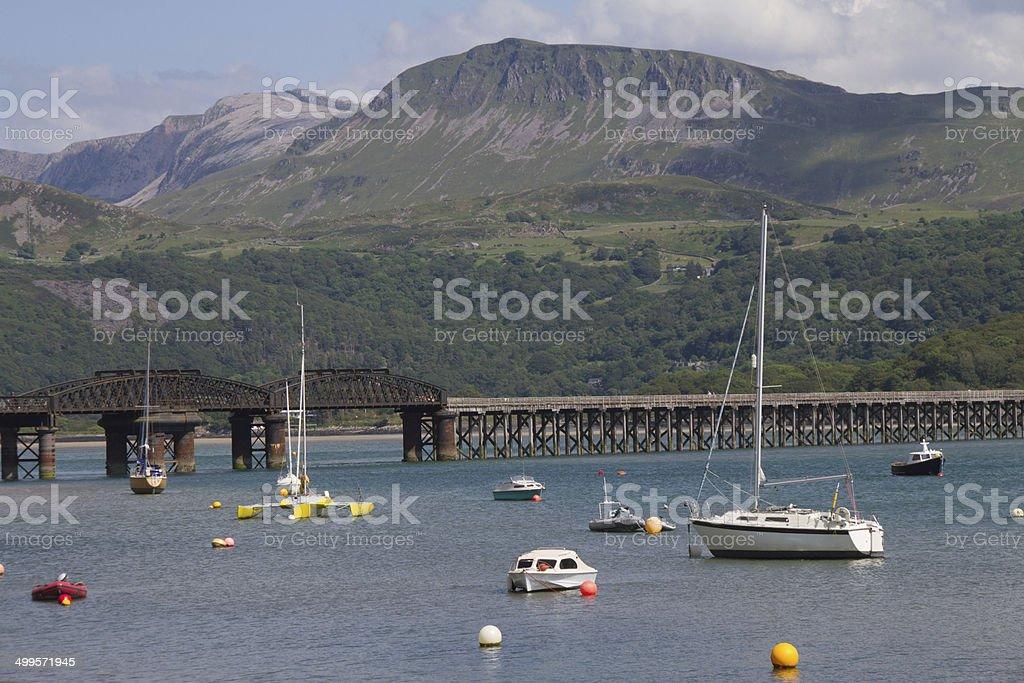 Barmouth's famous bridge stock photo