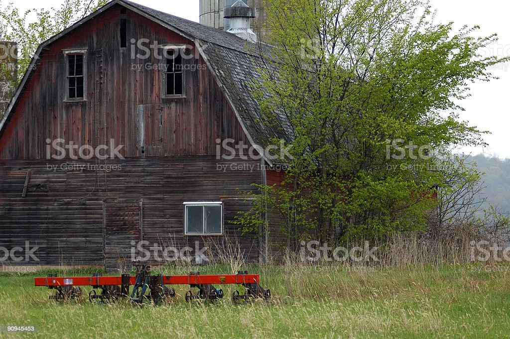 barn and equipment royalty-free stock photo