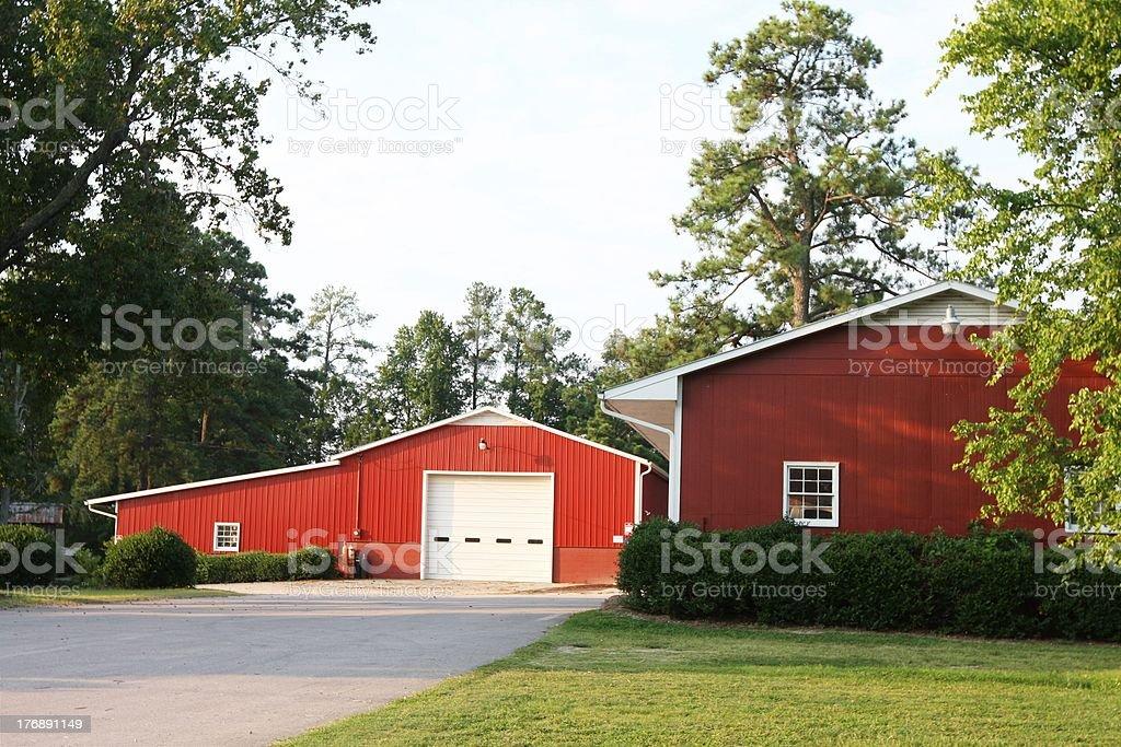 Barn and Farm house, North Carolina stock photo