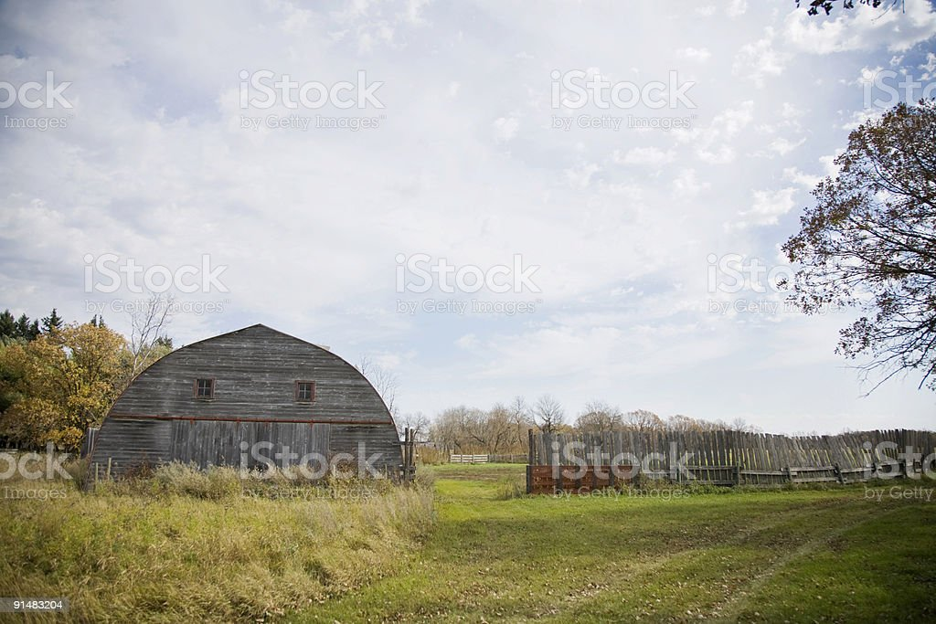 Barn and Fence royalty-free stock photo