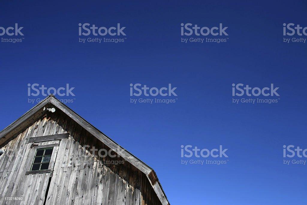 Barn and sky royalty-free stock photo