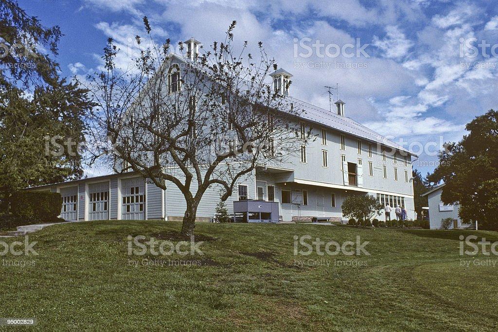 Barn at President Eisenhower's Farm stock photo