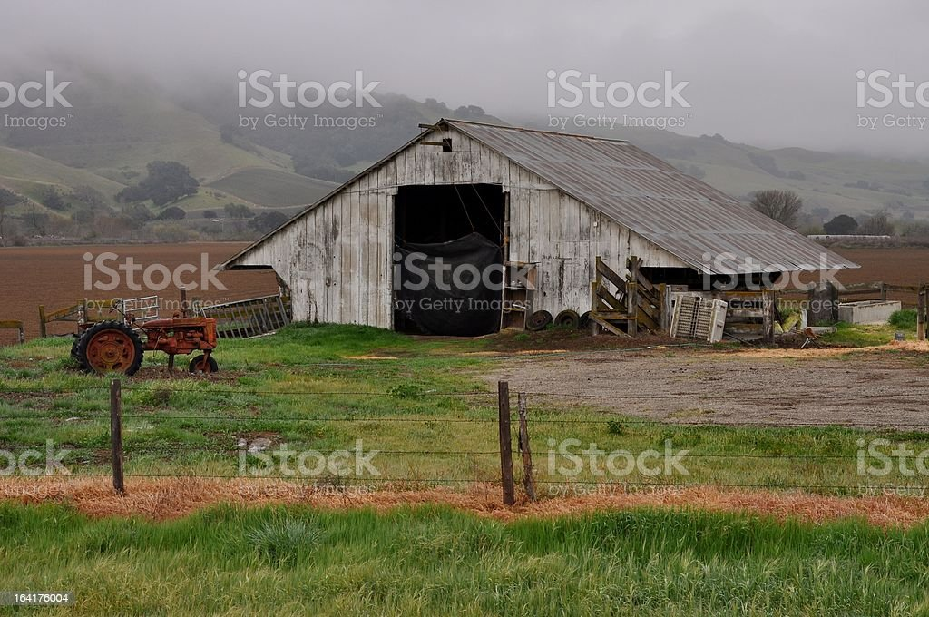 Barn at Sunrise royalty-free stock photo