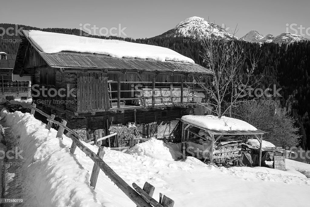 Barn. Black and White royalty-free stock photo
