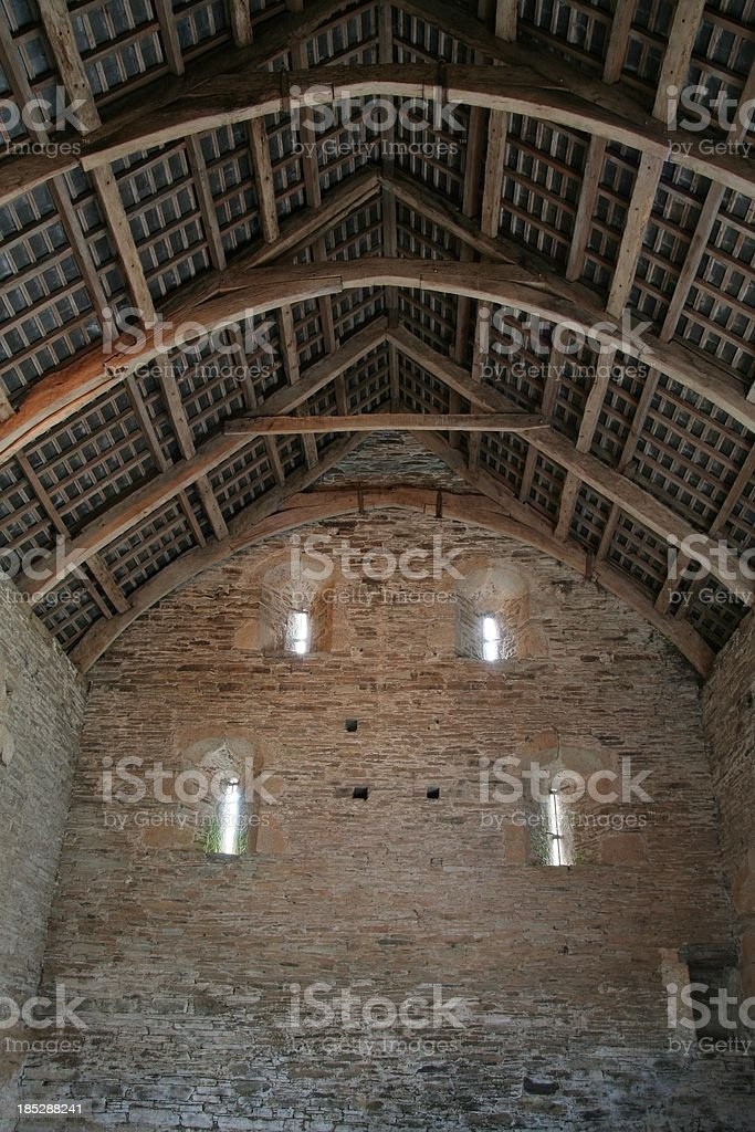 Barn Ceiling and Wall stock photo