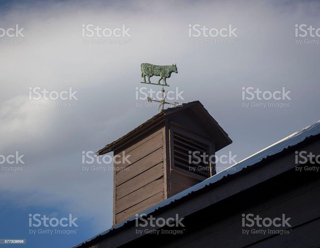 Barn Cupola and Weathervane stock photo