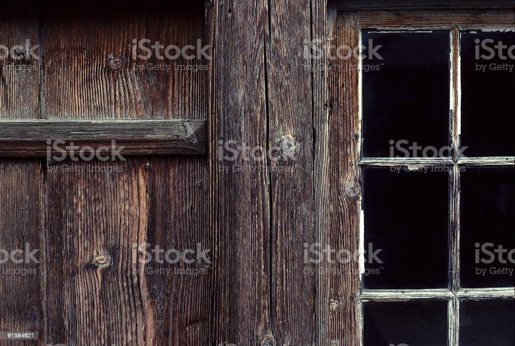 Barn Detail, Brienz, Switzerland royalty-free stock photo