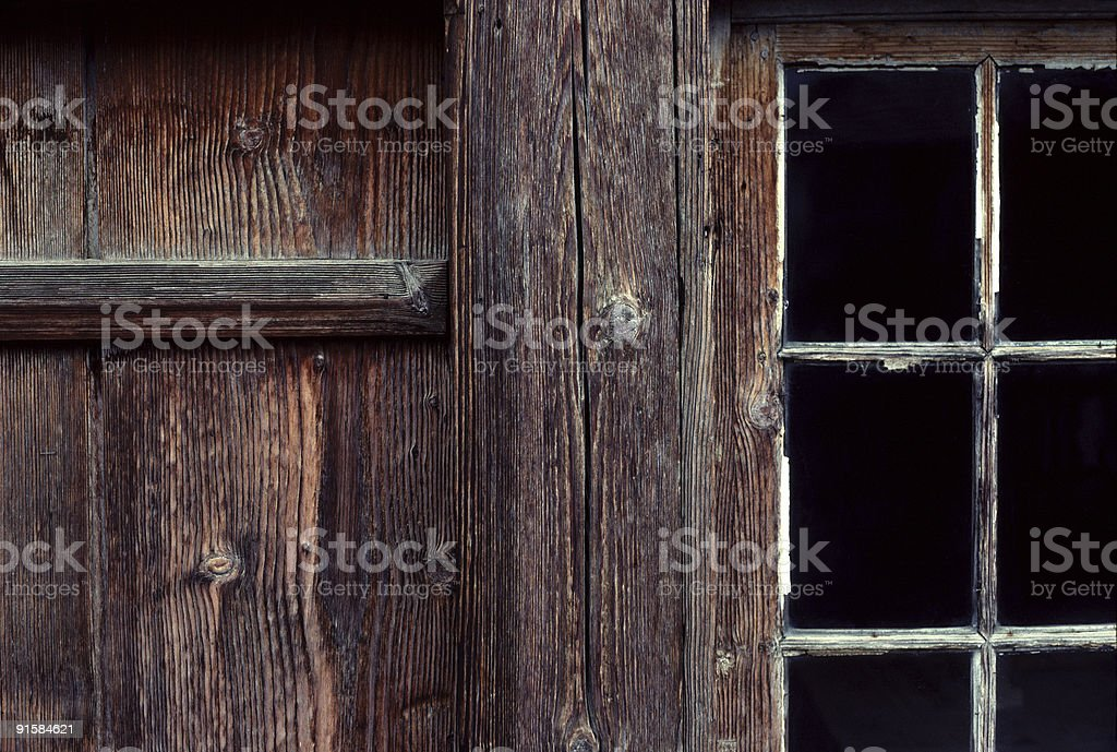 Barn Detail, Brienz, Switzerland stock photo