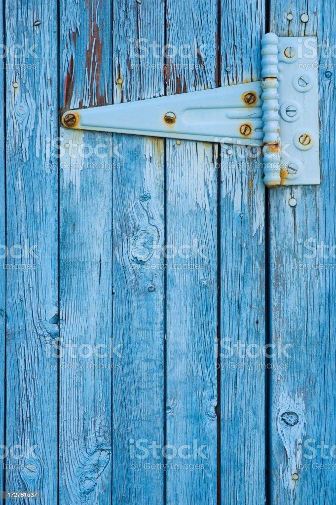 Barn door hinge royalty-free stock photo