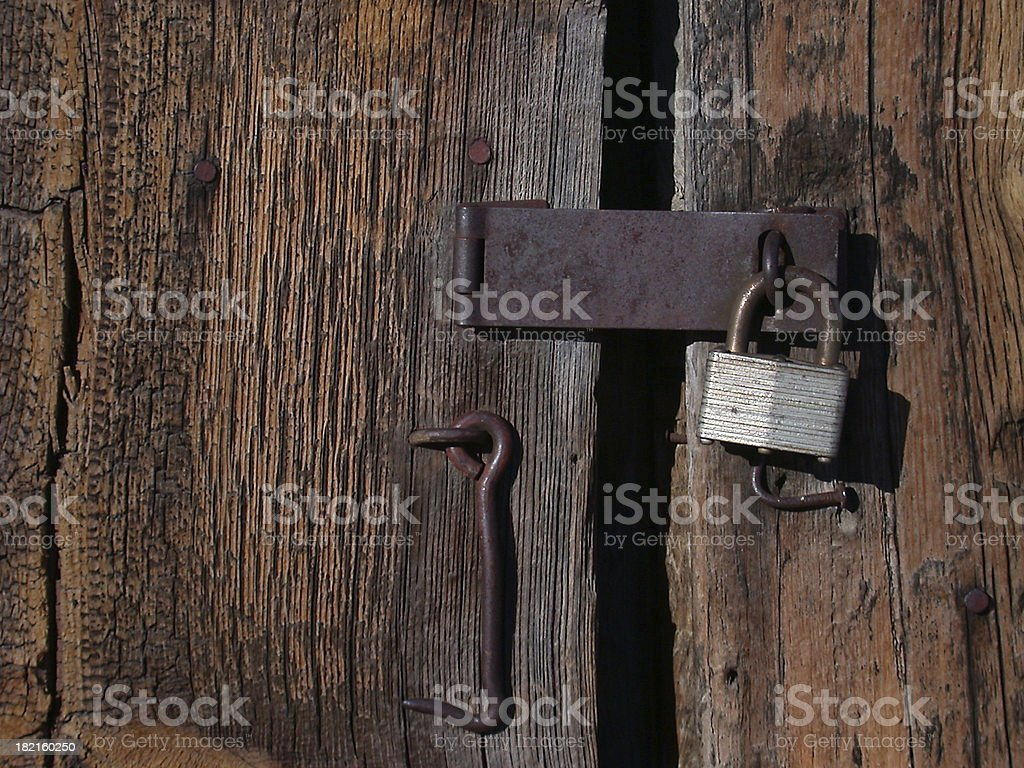 Barn Door Lock stock photo