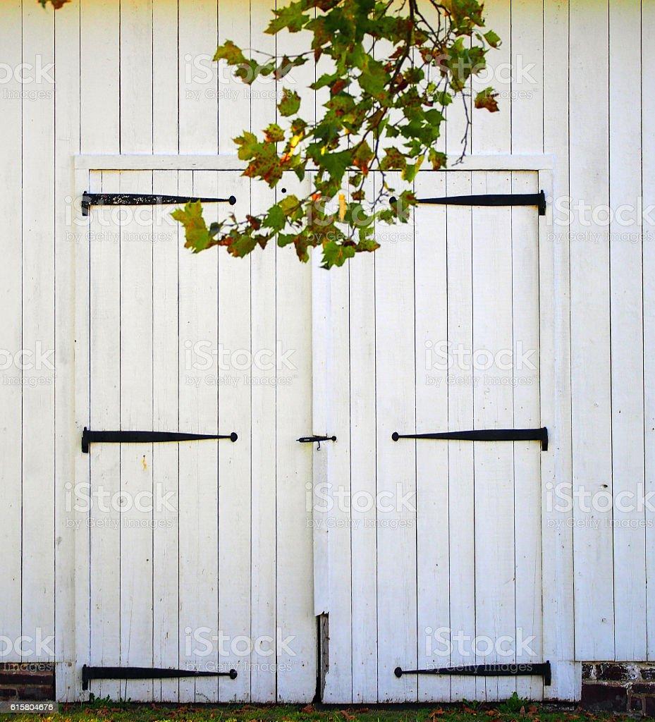 Barn Double Door stock photo