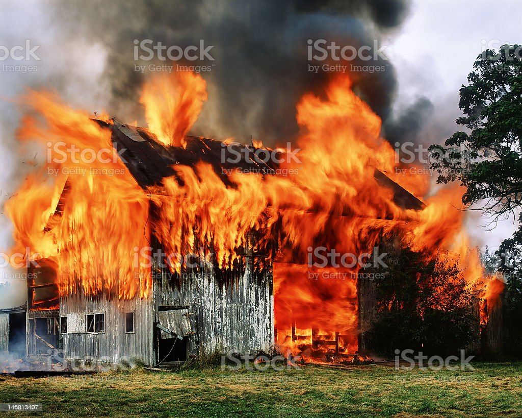 Barn flambee. stock photo