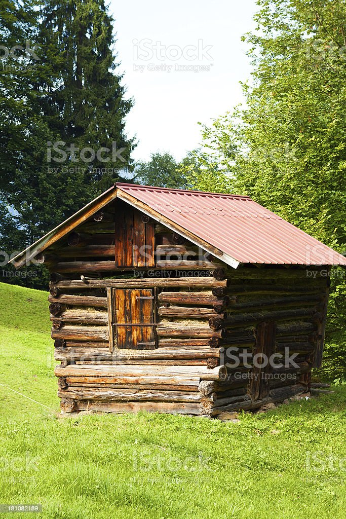 Barn for straw royalty-free stock photo