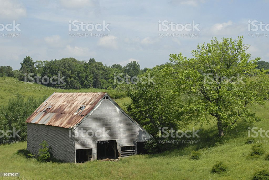 Barn in a Tennessee vale stock photo