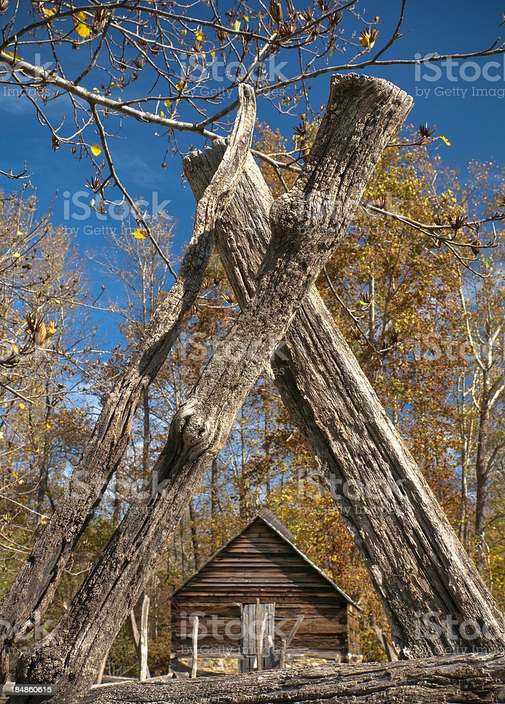 Barn in Great Smoky Mountain NP royalty-free stock photo