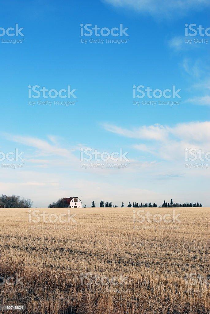 Barn en probar Campo foto de stock libre de derechos