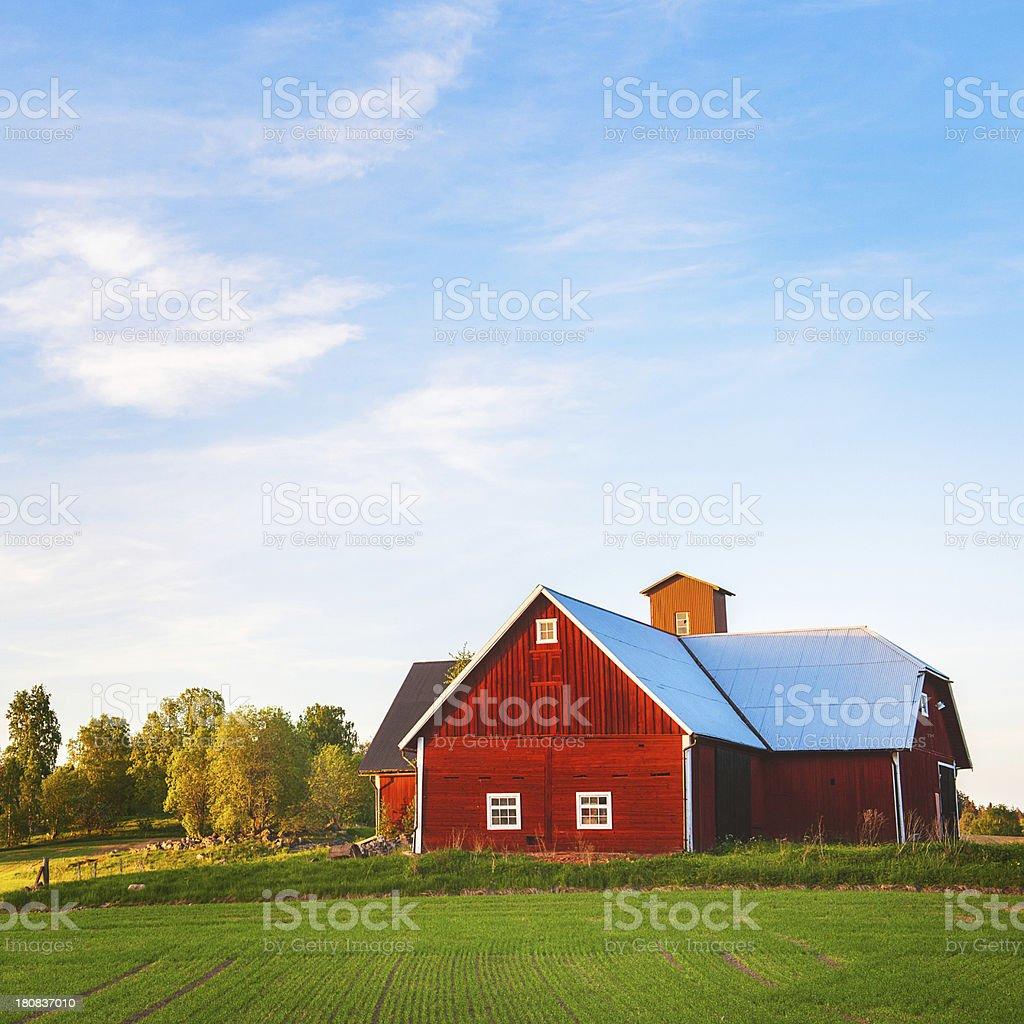 Barn in Sweden stock photo