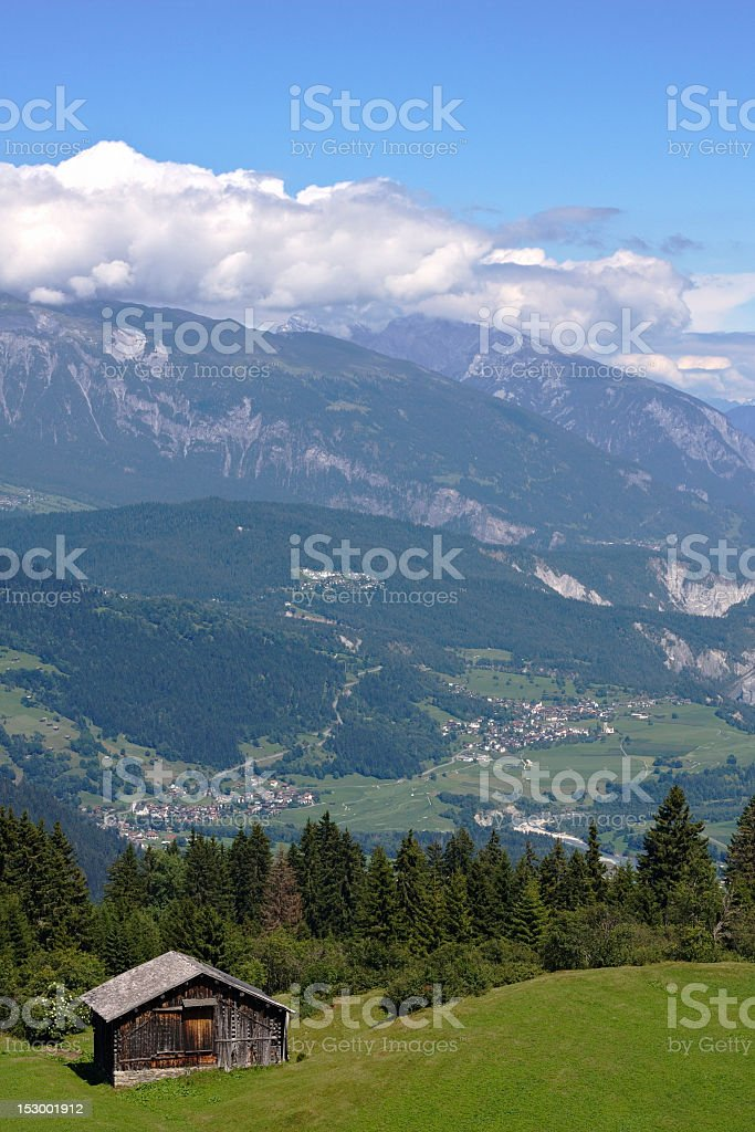Barn in the Alps royalty-free stock photo