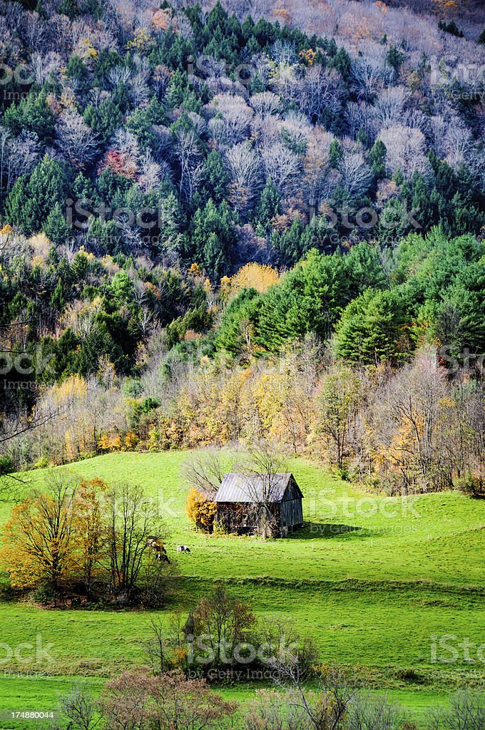 Barn in the Valley royalty-free stock photo