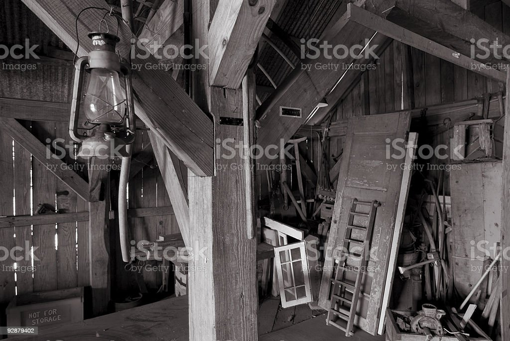 Barn Inside stock photo