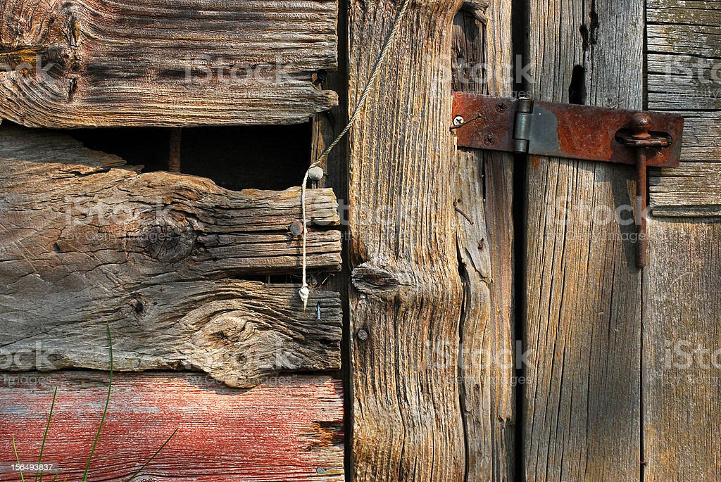 Barn Latched royalty-free stock photo