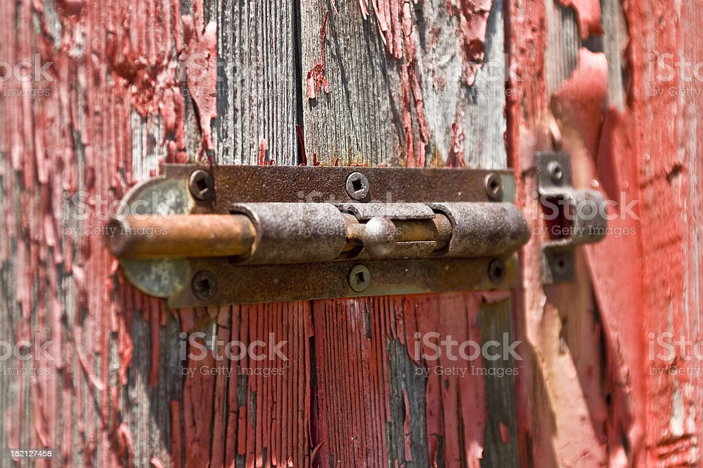 barn lock royalty-free stock photo
