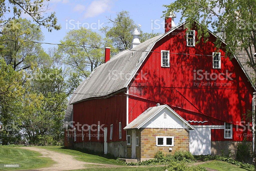 Barn near Lydia royalty-free stock photo
