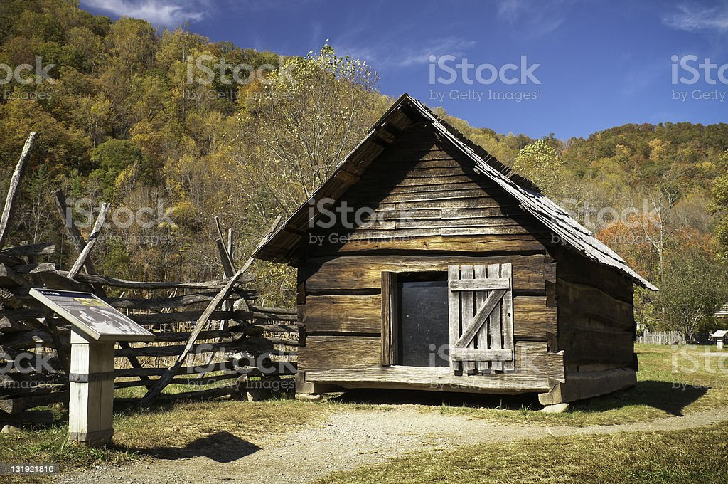 Barn, Oconaluftee, Great Smoky Mountain National Park, North Carolina, USA stock photo