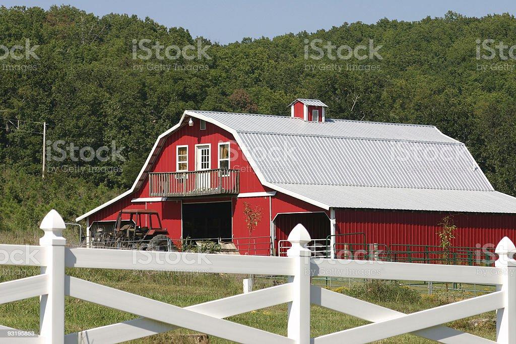 Barn or Home? stock photo