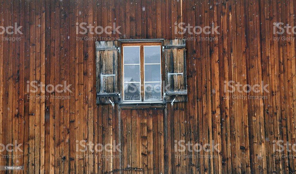 Barn Reflections stock photo