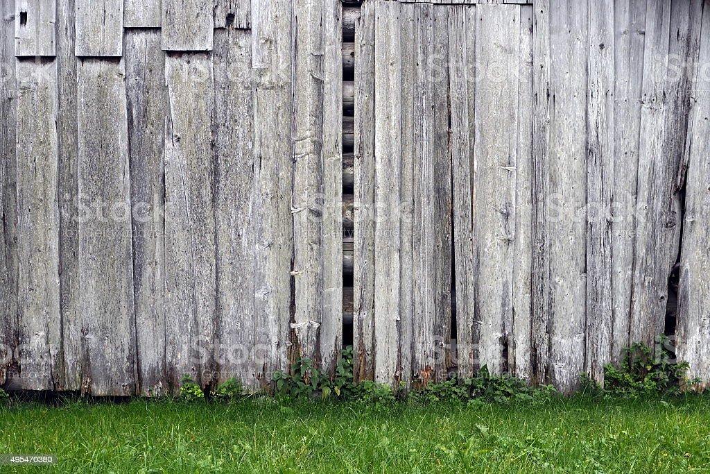 Barn wall stock photo