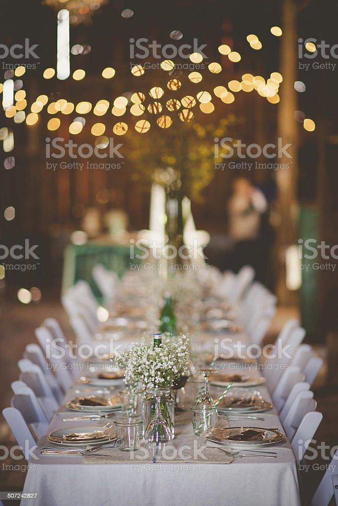 Barn Wedding stock photo