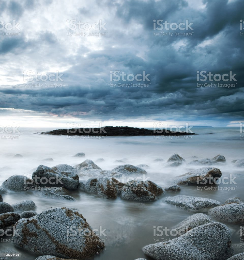 Barnacle Stones royalty-free stock photo