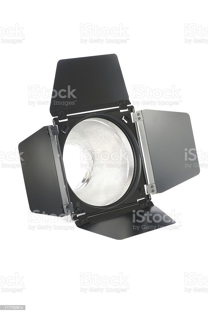 Barndoor and Reflector (photographic equipment) royalty-free stock photo