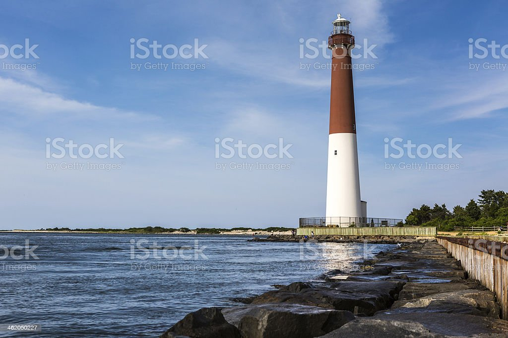 Barnegat Lighthouse at the Jersey shore stock photo