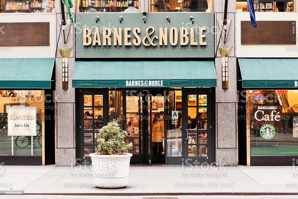 Barnes and Noble bookstore in the Fifth Avenue stock photo