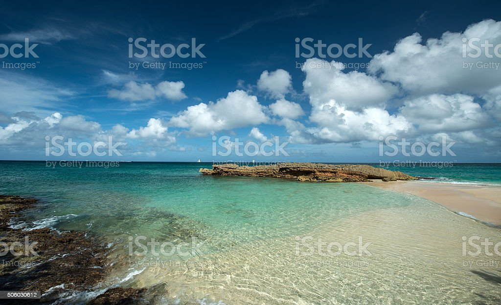 Barnes Bay, Anguilla Island stock photo