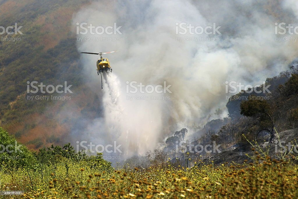 Barnett Fire stock photo