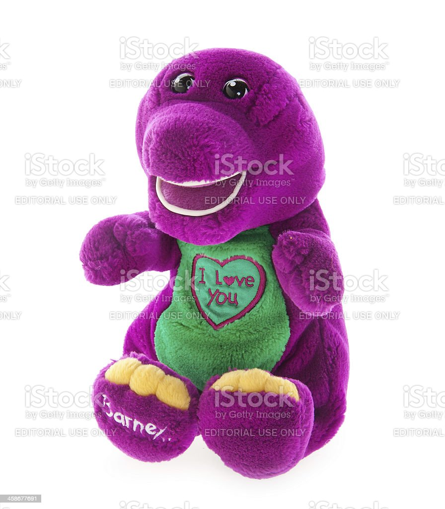 Barney Plush Doll stock photo