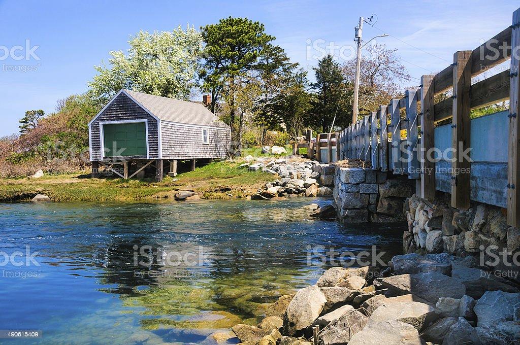 Barnstable Boathouse stock photo